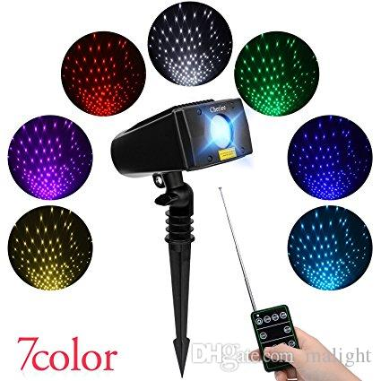 Laser Christmas Lights 7 In 1 Colour Outdoor Star Projector With RF Remote for Christmas, Holiday, Parties,and Garden Xmas Decoration