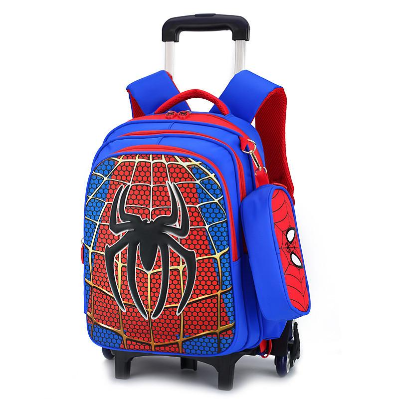 560a7a05545 Travel luggage bags for kid Boy s Trolley School backpack wheeled bag for  School Trolley bag On wheels School Rolling backpacks