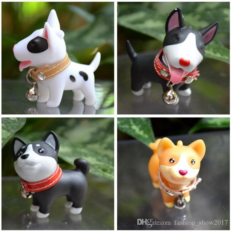Lovely Pet Puppy Dog Micro Bonsai Ornaments Micro Landscape Terrarium Vinyl Toy Dog Kids Birthday Gift