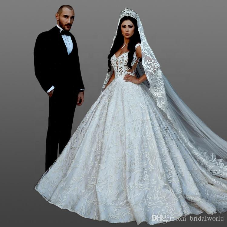 Luxury Lace Wedding Dresses Bridal Gown 2018 Sexy Spaghetti Strap Low Cut  Back Dresses With Chapel Train Pakistani Wedding Dresses Short Wedding  Dress From ... 508fb57ef