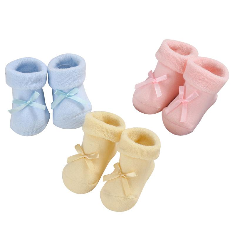Thick Winter Baby Socks For Boys Girls Cotton Warm Infant Socks Bow