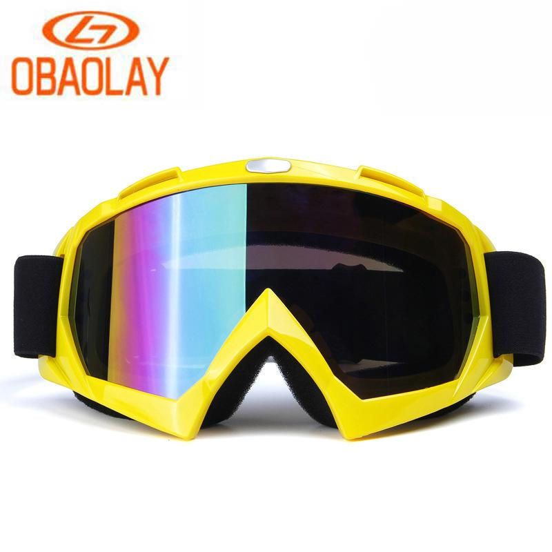 fd83ccd67b1 2019 OBAOLAY Antifog Ski Goggles UV400 Windproof Sandproof Outdoor Sports  Goggles Dustproof Motorcycle MTB Bike Glasses From Peachguo