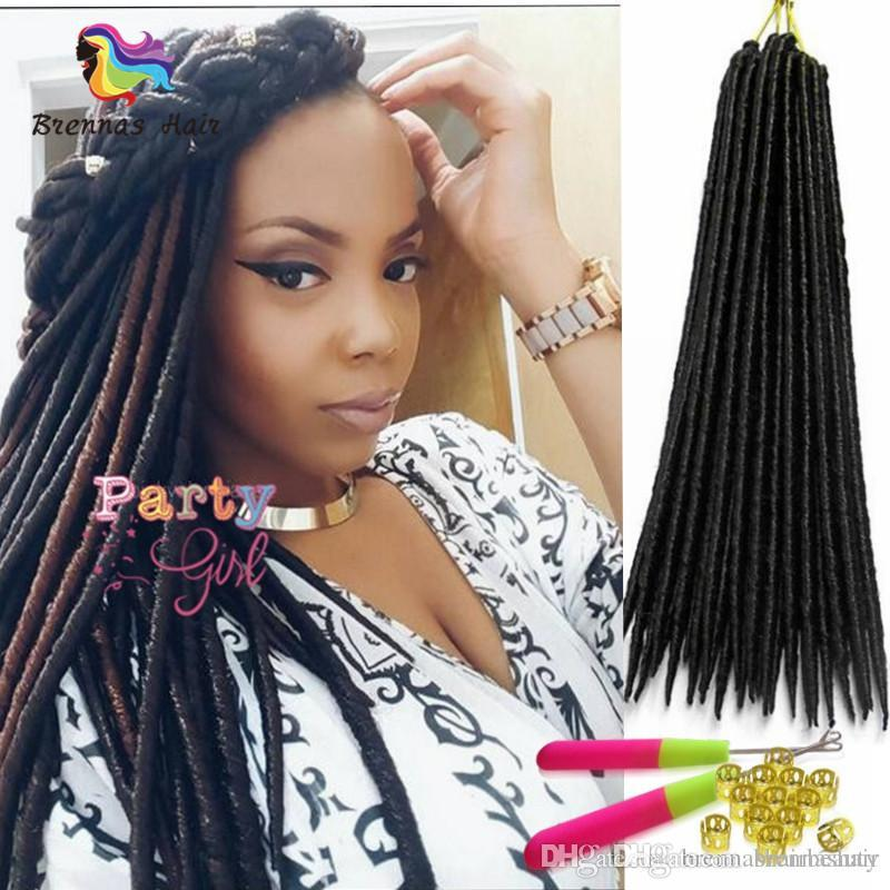 2018 18inch Faux Locs Havana Hair Extensions Synthetic Braiding Hair