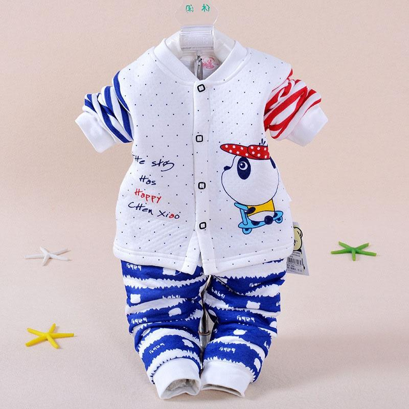 5d3ca8732a1f Baby Set Newborn Clothes 2018 Autumn New Boy Or Girl Thermal ...