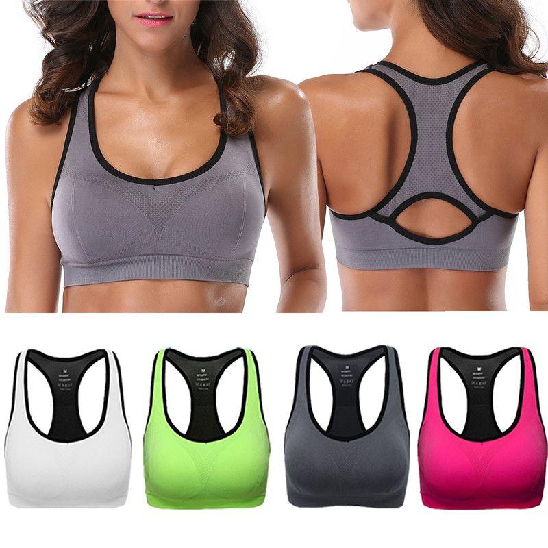 bc0e177510 Probra Sports Bra Women Running Yoga Bra Push Up Sport Top Athletic Vest  Yoga Top Padded Brassiere High Impact Sport Sports Bras Cheap Sports Bras  Probra ...