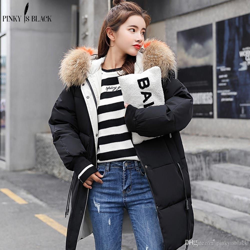 c5062d9dce3fc PinkyIsBlack 2018 New Parkas Female Women Winter Coat Thickening ...