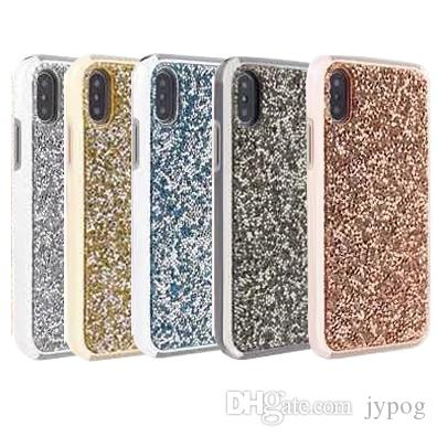 premium selection e970e fb3f0 For Iphone XS XR Case Luxury Glitter Bling Rhinestone Diamond Case 2in1  Electroplate TPU Hard PC Back Cover for Iphone XS MAX