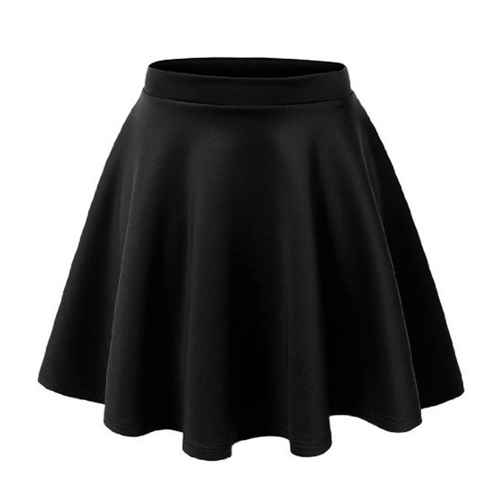 aaa1396213 Compre Las Mujeres De Otoño Invierno De Cintura Alta Gran Swing Retro Falda  De Sol Se Pusieron Una Mujer Grande Faldas De Cintura Elástica A  32.47 Del  ...
