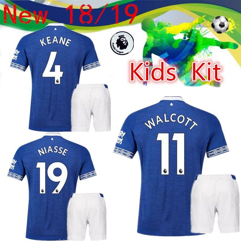 pretty nice 03bac ad921 Top Quality 2018 2019 Everton Home Children's Set 10 Sigurdsson 14 Cenk  Tosun 11 Walcott Football Wear 23 Coleman Top Retail Wholesaler