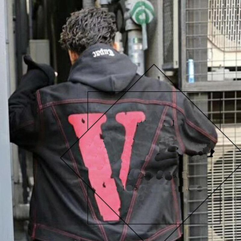 8458449523 VLONE Friends Denim Jacket Retro Street Big V Hip Hop Comfort Loose Men And  Women Couple Tide Jacket HFWPJK078 Mens Nice Jackets Fall Coat Men From ...