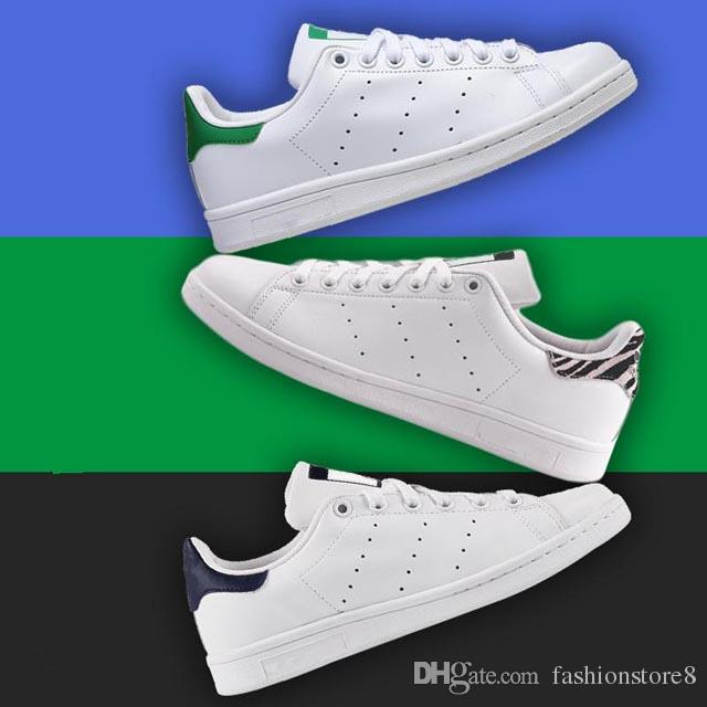 buy online e69c2 493c2 14 color tail for choose Hot classic style Stan Smith shoes men's women's  casual leather white flats shoes sneakers sport skateboard shoes
