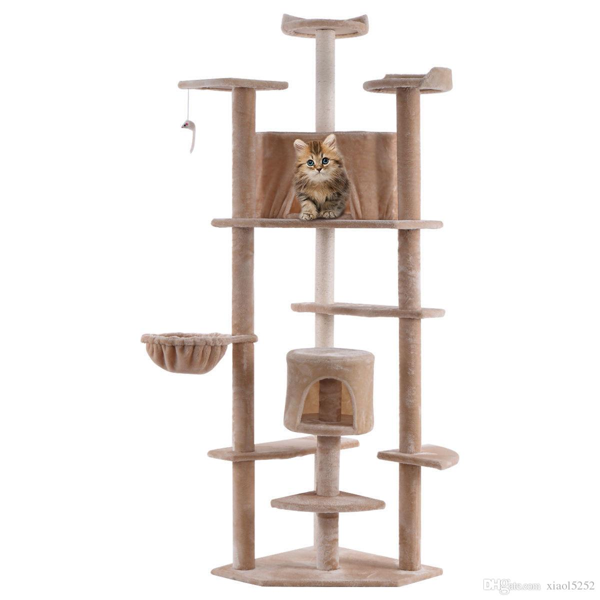 Attirant 2018 Beige New 80 Cat Tree Condo Furniture Scratch Post Pet House From  Xiaol5252, $40.21 | Dhgate.Com