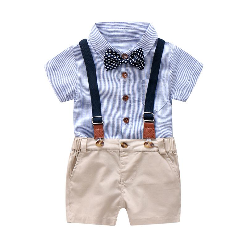 a21de0da15a7c 2019 Formal Boys Suit Set For Baby Toddler Kids Clothes 6 9 12 18 24 Months  Outfits Infant Bodysuit Clothing Baby Boy Clothes From Sport xgj