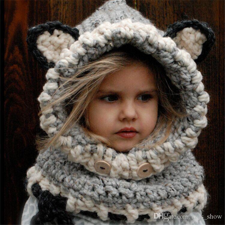 Compre Niños Fox Bufanda Sombrero De Alta Calidad Hecho A Mano Niños Niñas  Calientes Bufanda Fox Fox Unisex Precioso Fox Lana Gorros De Punto Patrón  Animal ... 1e879e2a618