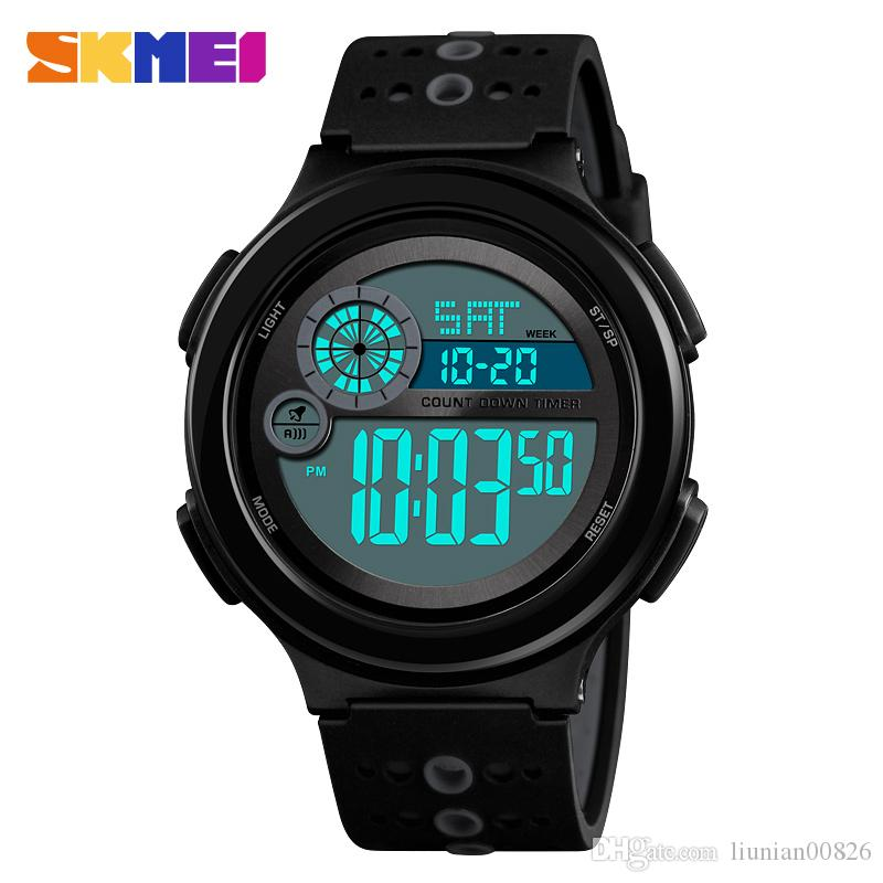 Mens Sports Watches Dive 50m Digital Led Military Watch Men Fashion Casual Electronics Wristwatches Man Clock Relojes Skmei 2018 Men's Watches