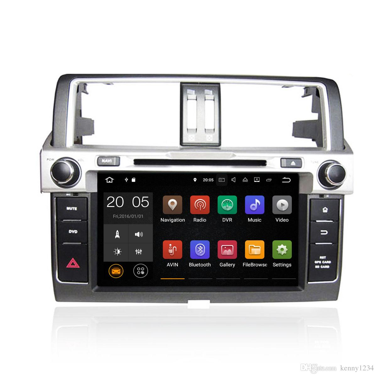 Android 6.0/7.1 4+32GB Car DVD Player GPS Navigation for TOYOTA PRADO 2014 with Radio BT USB AUX Camera Map Canbus