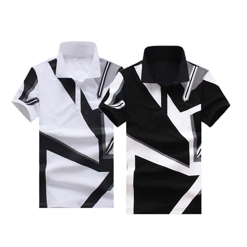 eac47e67427 Acheter Chemises À Manches Courtes Hommes Marque De Mode Imprimer Chemises  Slim Fit Hommes Chemises Homme Noir Blanc Tops Tee Casual Xxl De  21.12 Du  ...