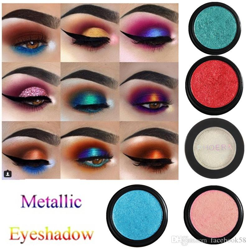 2018 Brand Phoera Waterproof Metallic Eyeshadow Glitter Eyeshadow