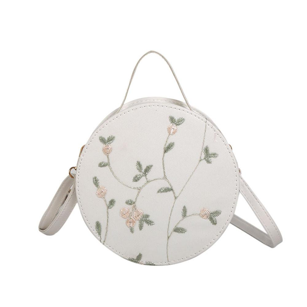 Embroidery Round Bag Handbag Elegant Flowers Messenger Crossbody Bag Lady  Mini Shoulder Bags Bolsa Feminina Circle Rosetti Handbags Name Brand Purses  From ...