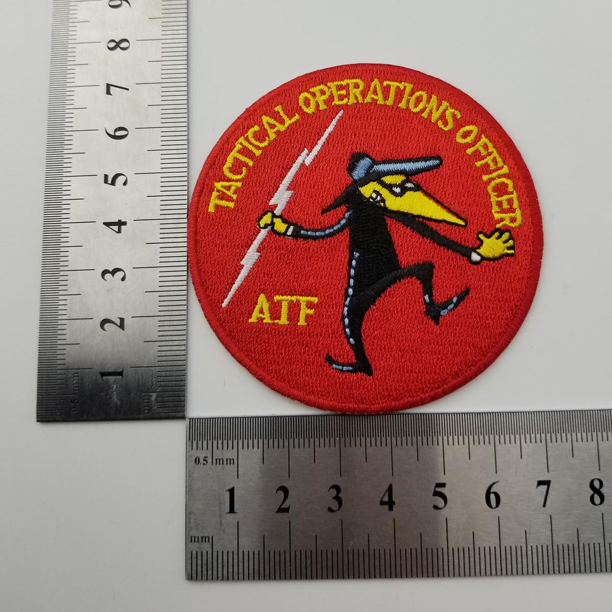TACTICAL OPERATIONS OFFICER AFF Police Embroidery patch for Clothing Jeans Bag Decoration Iron on Patch