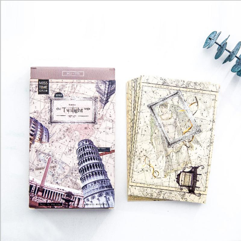 2019 Pack Creative City Greeting Card Postcard Birthday Letter Envelope Gift Set Message From Curteney 3287