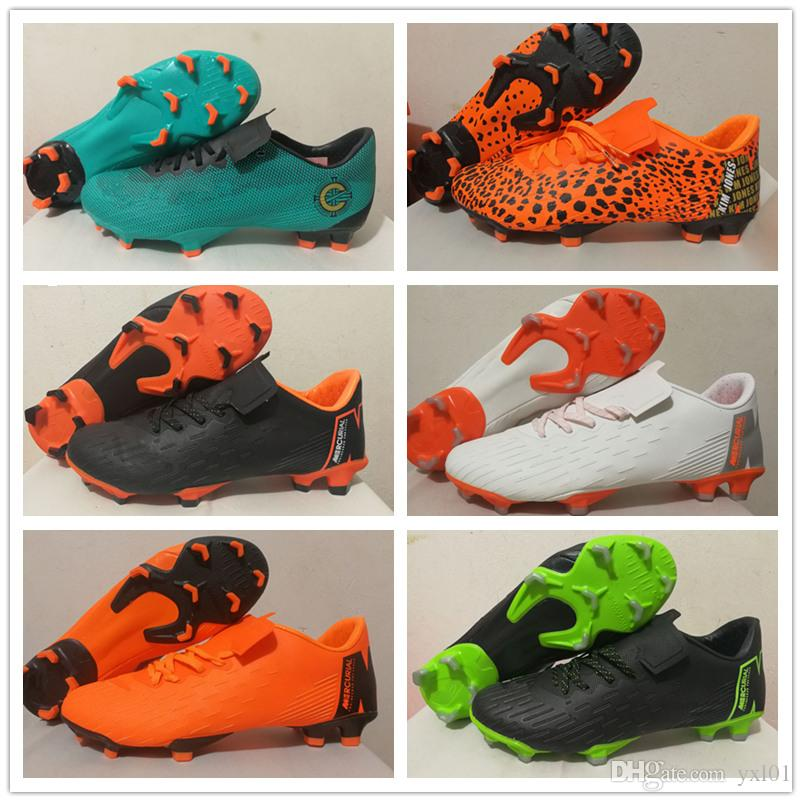 a39123446 2018 New Mercurial Superfly XII Club MG FG Soccer Cleats Shoes Football  Nail Boots for Mens Zapatos Top 12 360 Sports Sneakers Size39-45 Soccer  Cleats ...