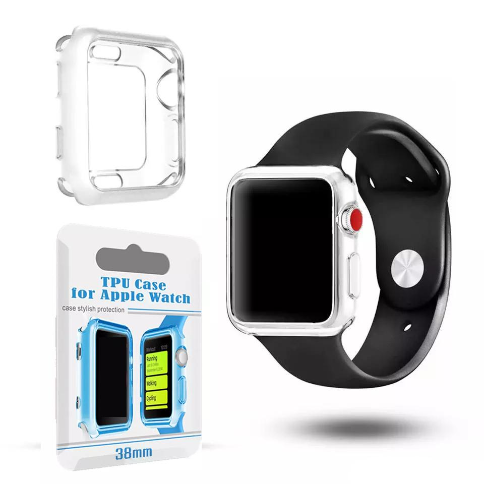 watch dd12a 1390c For apple watch 42mm Series 3 Transparent Protective Case TPU Protector  Ultra Thin Cover for i Watch 38mm Smart Watch Case Retail Package