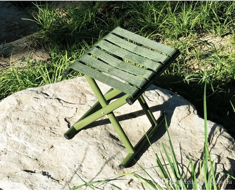 Terrific Military Green Stool Widen Nylon Belt Fishing Chair High Strength Carbon Steel Tube Folding Chairs Durable 10 5Xr B Camping Table And Chairs Patio Machost Co Dining Chair Design Ideas Machostcouk