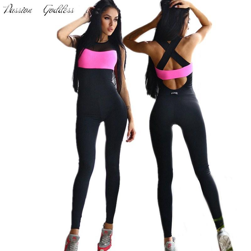 7d94149673d Compre Mujeres Fitness Ropa Deportiva Mono Body Completo Mono Elástico  Enteritos Mujer Mono Work Out Romper Sin Respaldo Womens Skinny A  23.94  Del Carawayo ...