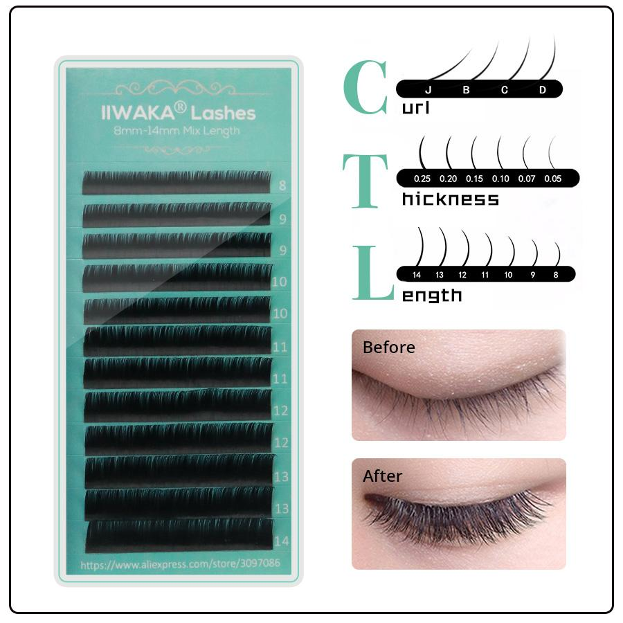 0a017070f75 2017 IIWAKA Breand All Size J/B/C/D Curl Synthetic False Eyelash Individual Eyelash  Extension Brow Filler Brow Shaper From Goddare, $25.04| DHgate.Com