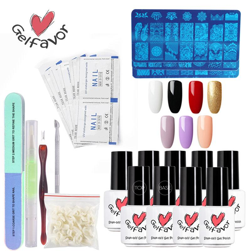 Gelfavor Nail Art Tools Set Fast Delivery With Base Top Primer