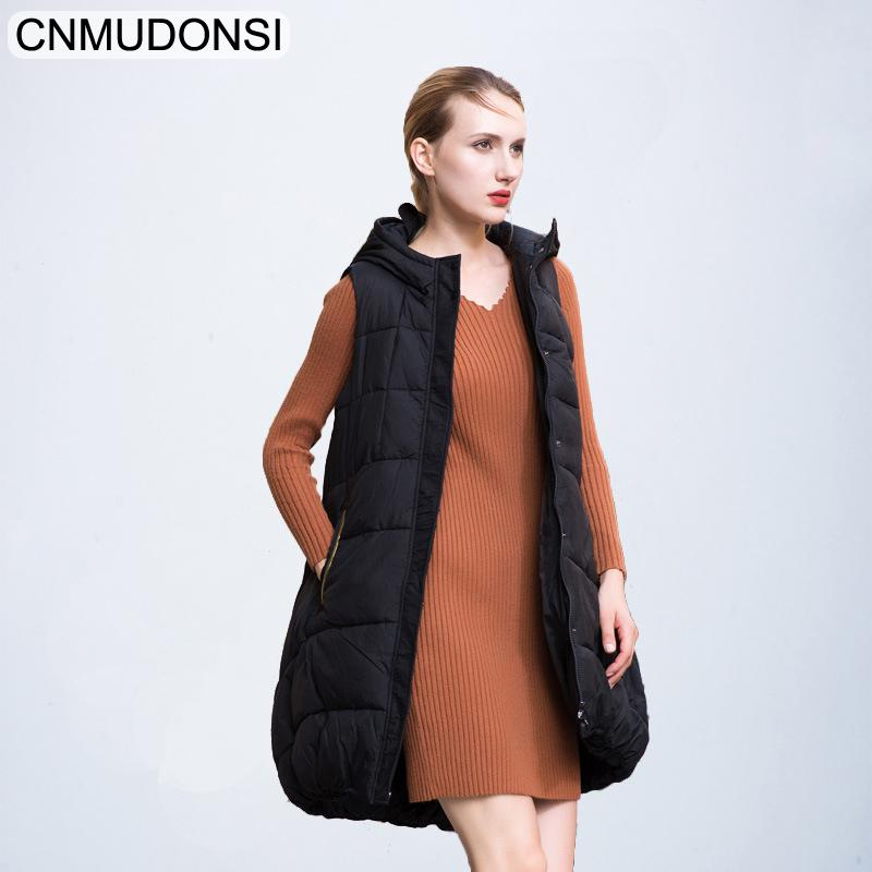 a175bad0b7bb7 2019 Womens Vests Winter Outerwear New Brand Hooded Thicken Warm Long  Casual Cotton Padded Waistcoat Female Sleeveless Jacket Clothes From  Donahua