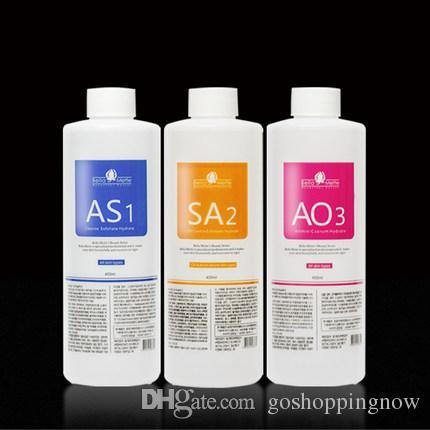 عرض ساخن !!! أكوا تقشير الحل 3 زجاجات / 400ML لكل زجاجة ماء الوجه سيروم هيدرا للبشرة العادية الجلد DHL جلدي السائل
