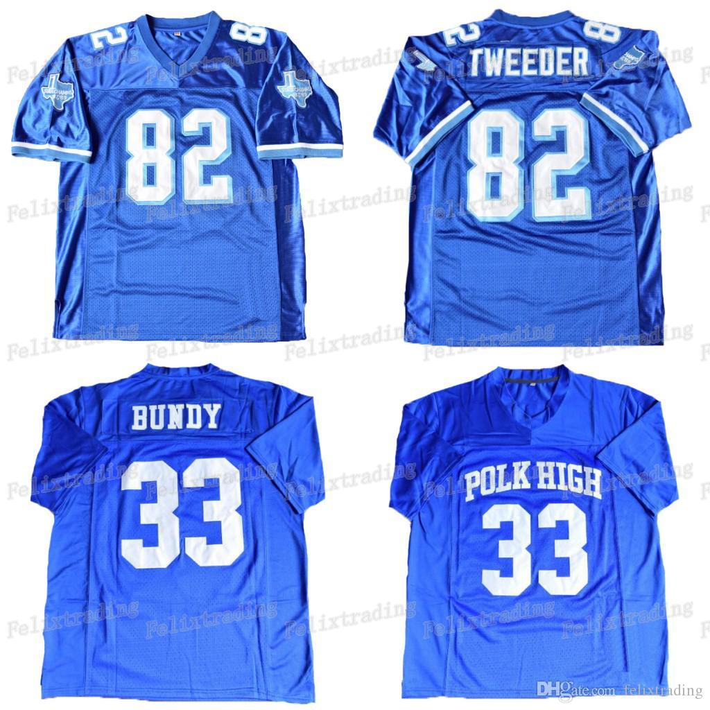 2019 Al Bundy  33 Polk High Football Jersey  82 Charlie Tweeder Men Blue  Football Jerseys Free Shippingcollege From Felixtrading 7a6a87620134