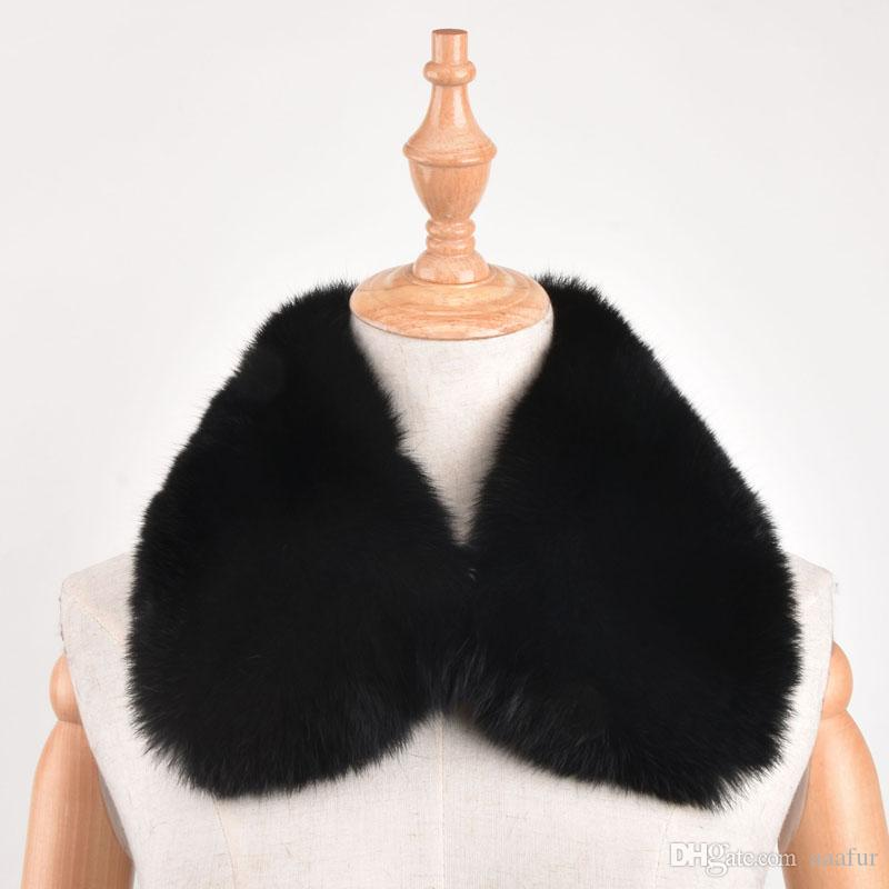 100% Real Rabbit Fur Collar Square Collar Men Women's Genuine Leather Women Fashion Fur diy Clothing accessories
