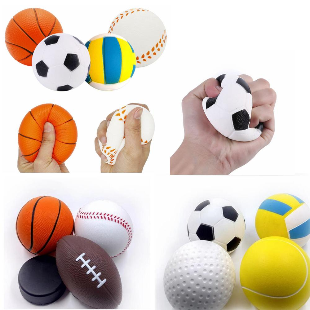 Cheap Price Antistress Squeeze Football Toys Baseball Tennis Ball Baseketball Squishy Slow Rising Anti Stress Relief Sport Ball Adult Toys Welding & Soldering Supplies
