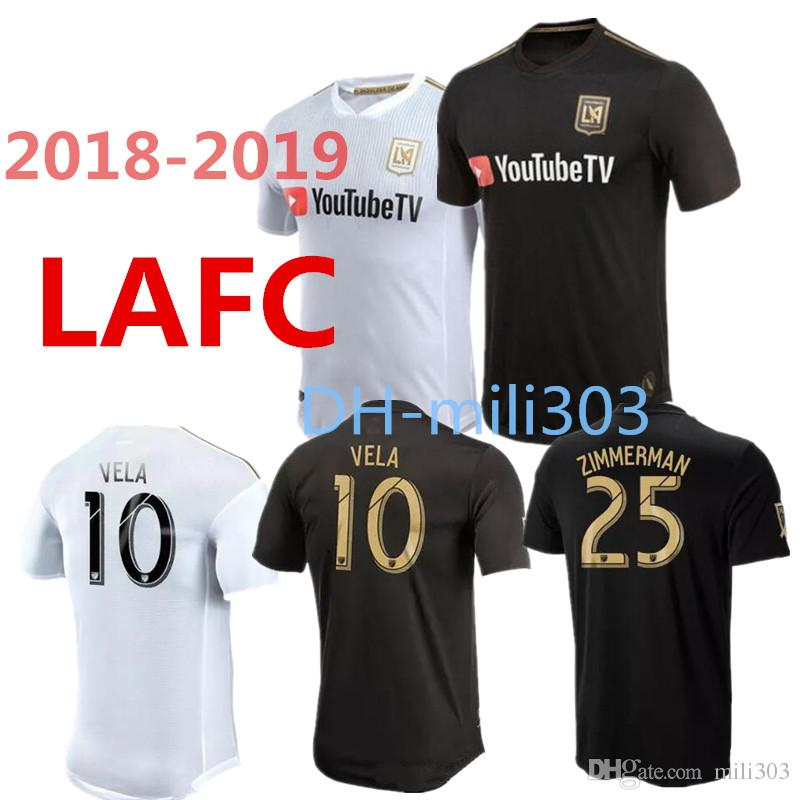 f50498896 Top Thai Quality 2018 2019 LAFC Soccer Jersey 18 19 HOME Black Away ...
