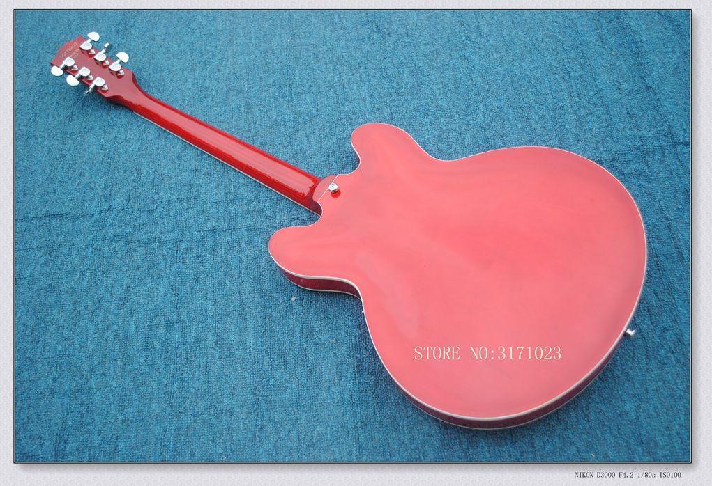 Bright Red 335 Guitar semi hollow body Electric Guitar HOT SALE