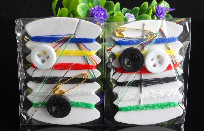 Ücretsiz kargo 10000 adet / grup mini dikiş seti / seyahat dikiş kitleri 6 konu dikiş kiti tamir araçları
