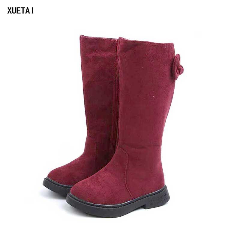 e43edaf8e9a18 Girl High Boot Kids Winter Boots Fashion Bow Design Girls Warm Princess  Shoes High Boot Footwear 2018  13 Girls Combat Boots Size 2 Rain Boots Girl  From ...