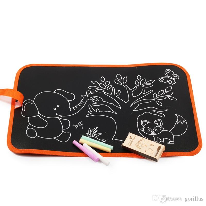 Chalk Drawing Book Soft Black Board Pad Coloring Book Early ...