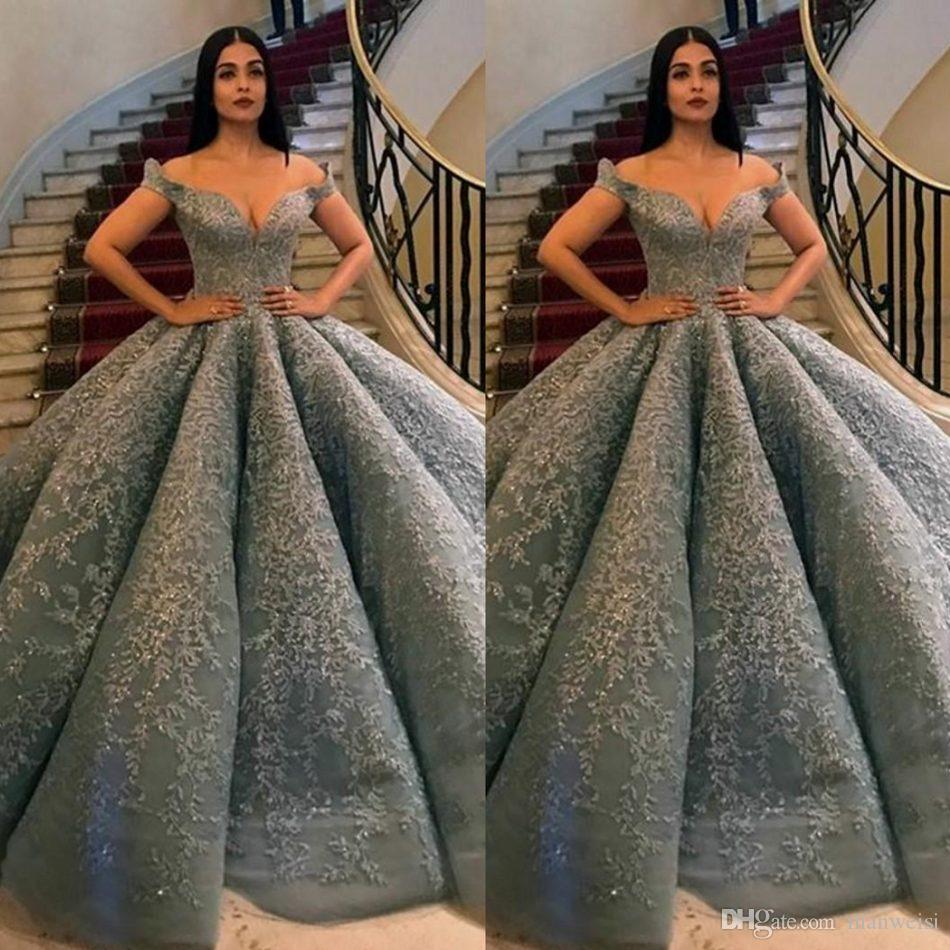 Silver Wedding Gowns: Zuhair Murad 2019 Silver Lace Ball Gown Wedding Dresses