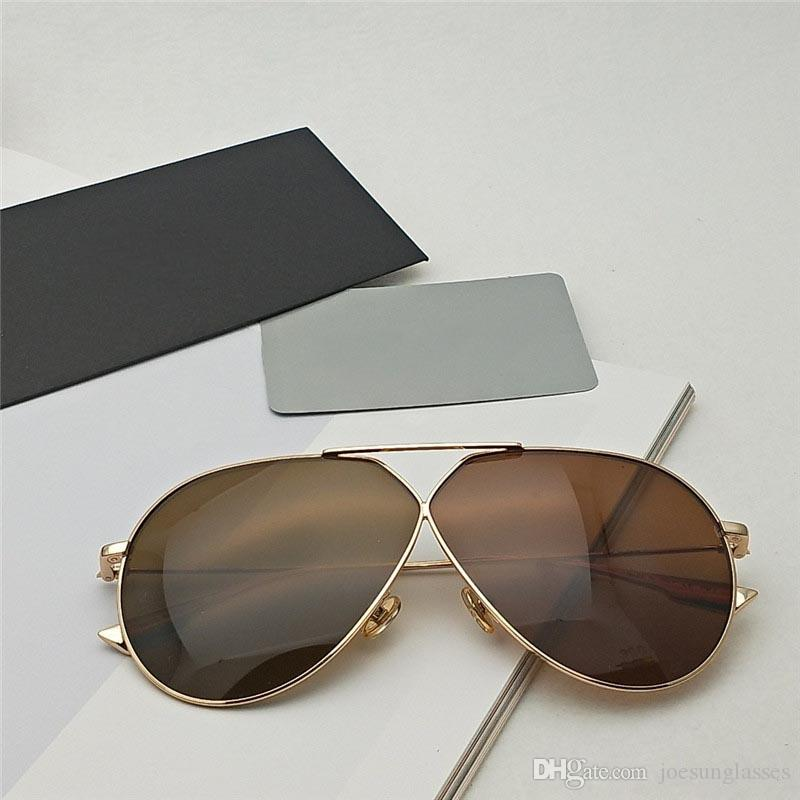 63e18b94bd13c Compre Designer De Marca De Moda De Luxo Óculos De Sol STELLAIRE 3 Pilotos  De Armação De Metal Polarizada Óculos De Sol De Alta Qualidade Estilo  Casual E ...