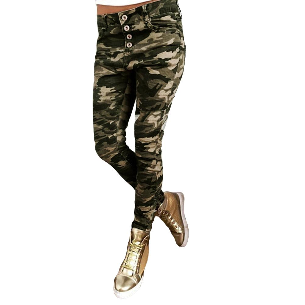 Compre Pantalones De Camuflaje Sexy Para Mujeres Pantalones De Lápiz De  Impresión De Camuflaje Bolsillos A Media Cintura Pantalon Femme Verde  Militar ... e621f23827cb