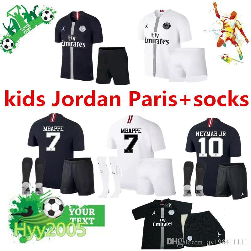 2019 2018 19 Paris Saint Germain Paris Champions League Third Kids Soccer  Jersey Sets+Socks Mbappe Cavani Champions Kids Football Kitshirt From  Qy198411111 435d3ba78