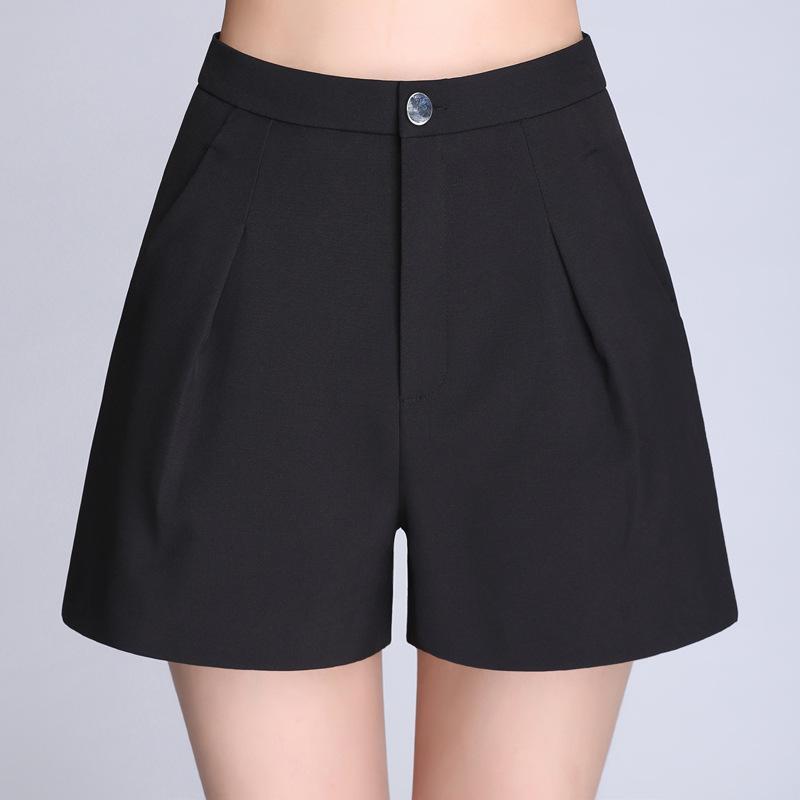Acheter Short Taille Haute Et Jambe Large 2018 Nouveau Short De Printemps  Et D été Version Coréenne Short Femme Grande Taille De  24.12 Du ... 9a96d3dc678