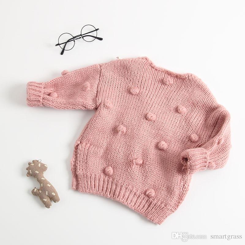 Мода Осень 2020 Детских Knit кардиган Интернет-магазин Глубокого V шея кардиган 3 цвета хлопок с длинным рукавом Девочка Кардиган Свитер 18092803