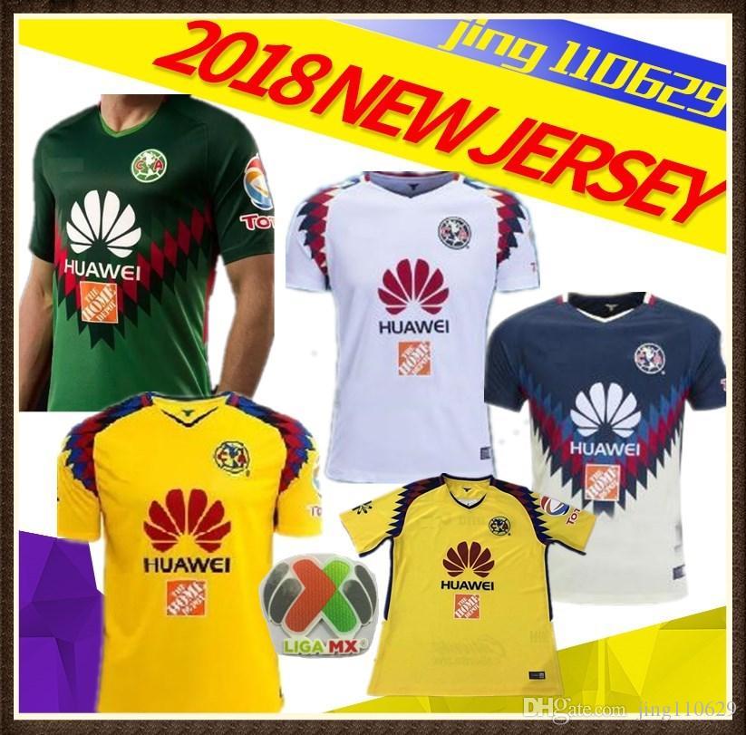 NEW 2018 Liga MX Club America Soccer Jersey Third 3rd Away Green 18 19  O.PERALTA D.BENEDETTO DOMINGUEZ Camiseta Football Shirt UK 2019 From  Jing110629 0b4114b97