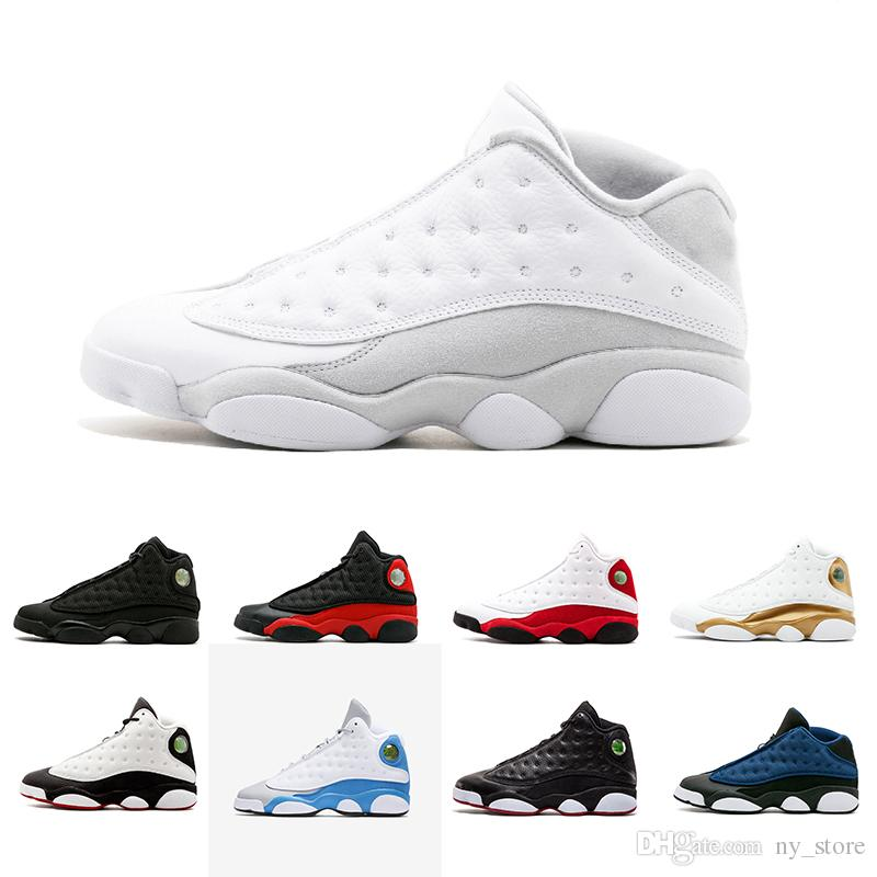 cdfb231977d5 2018 New Arrive 13 13s Hyper Royal GS Italy Blue Olive Men Basketball Shoes 13s  Mens Sports Sneaker Athletics Shoes Size 41 47 Shaq Shoes Kd Basketball ...