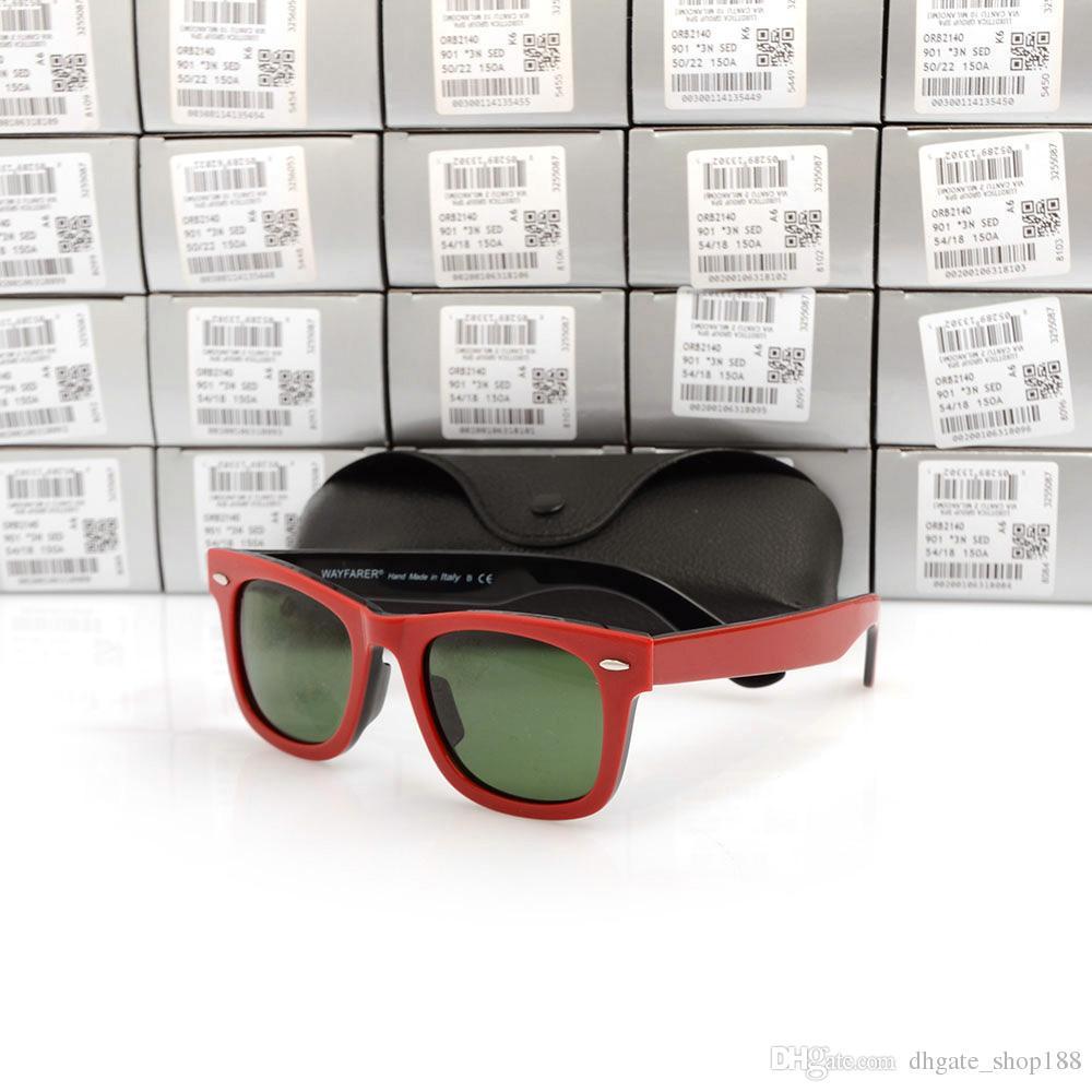 New UV400 protection Sunglasses High Quality Plank black Sunglasses glass Lens black glasses beach sunglasses 2140 Designer sun glasses